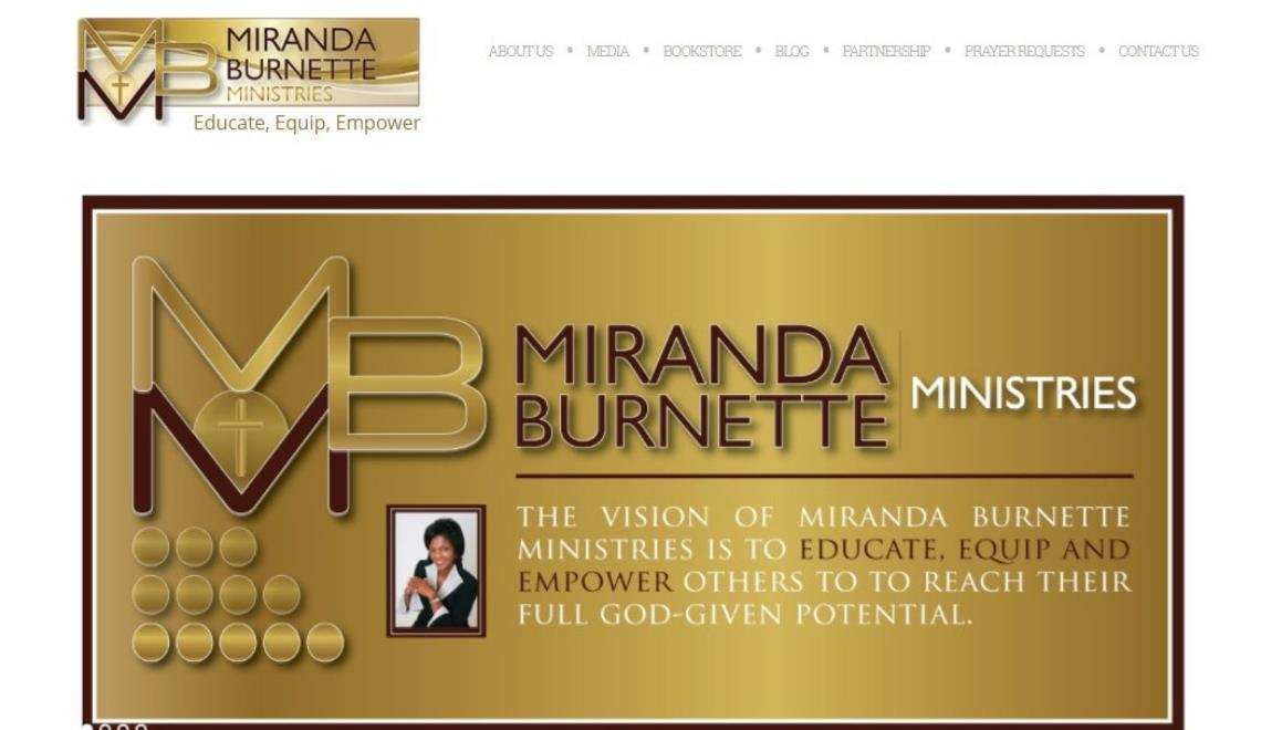 miranda ministry website design example