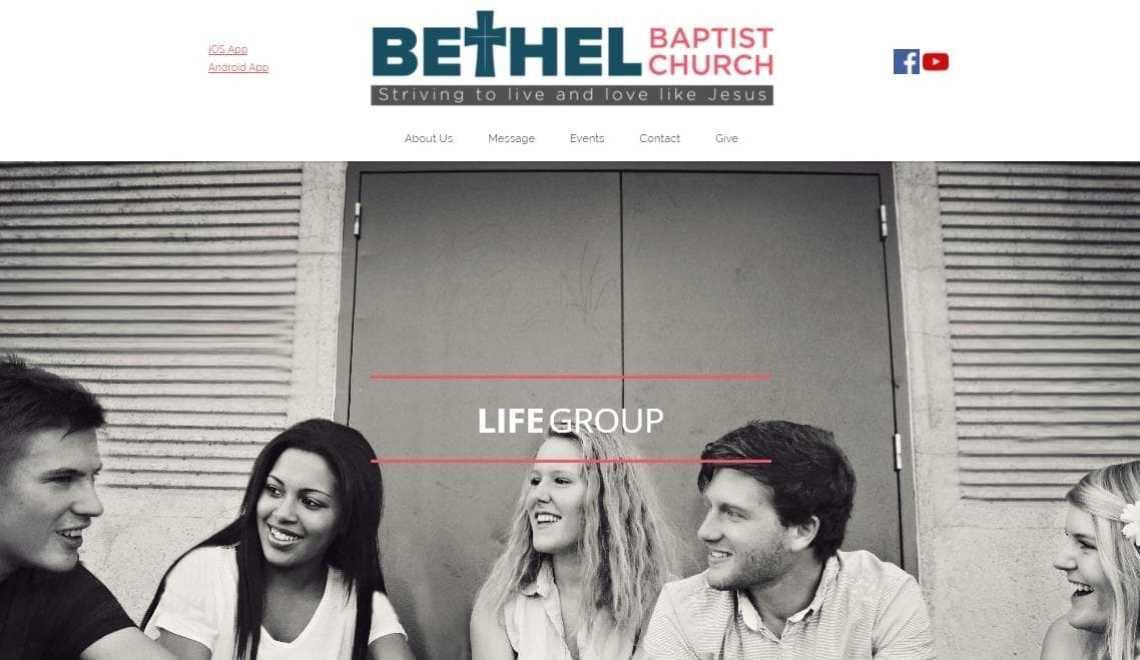 bethel baptist church web design example