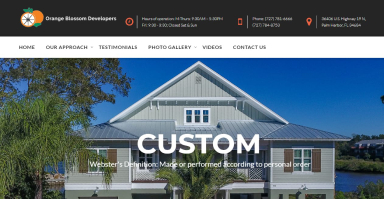 Orange Blossom Christian website design