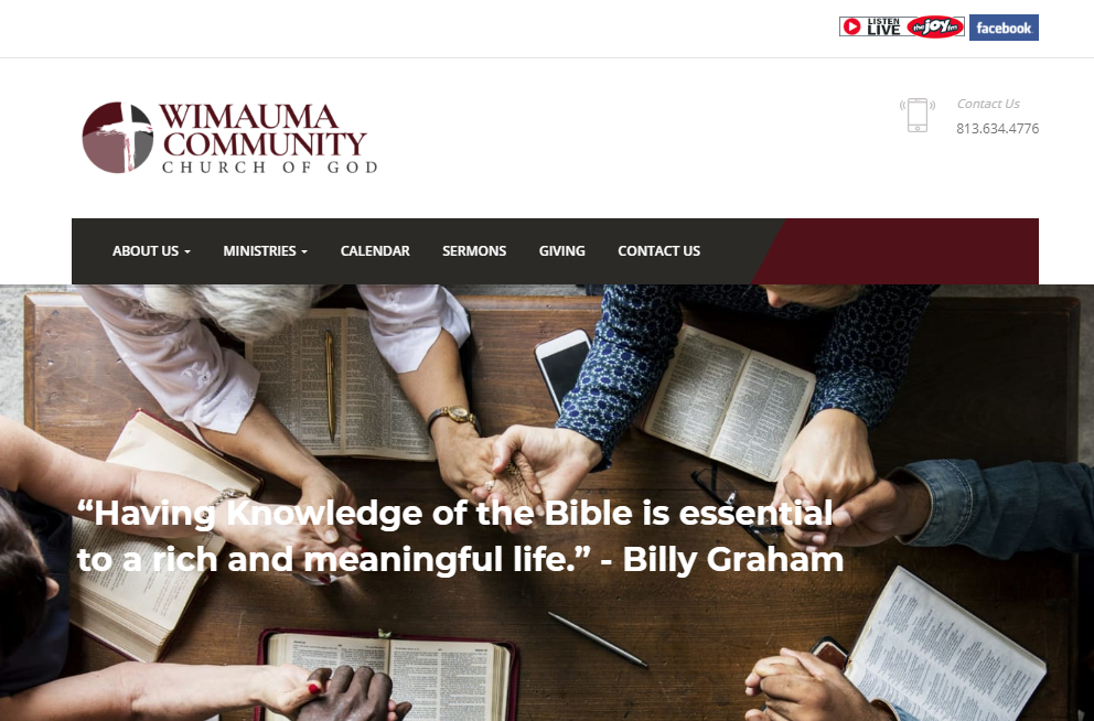 design_wimauma - best Christian website design