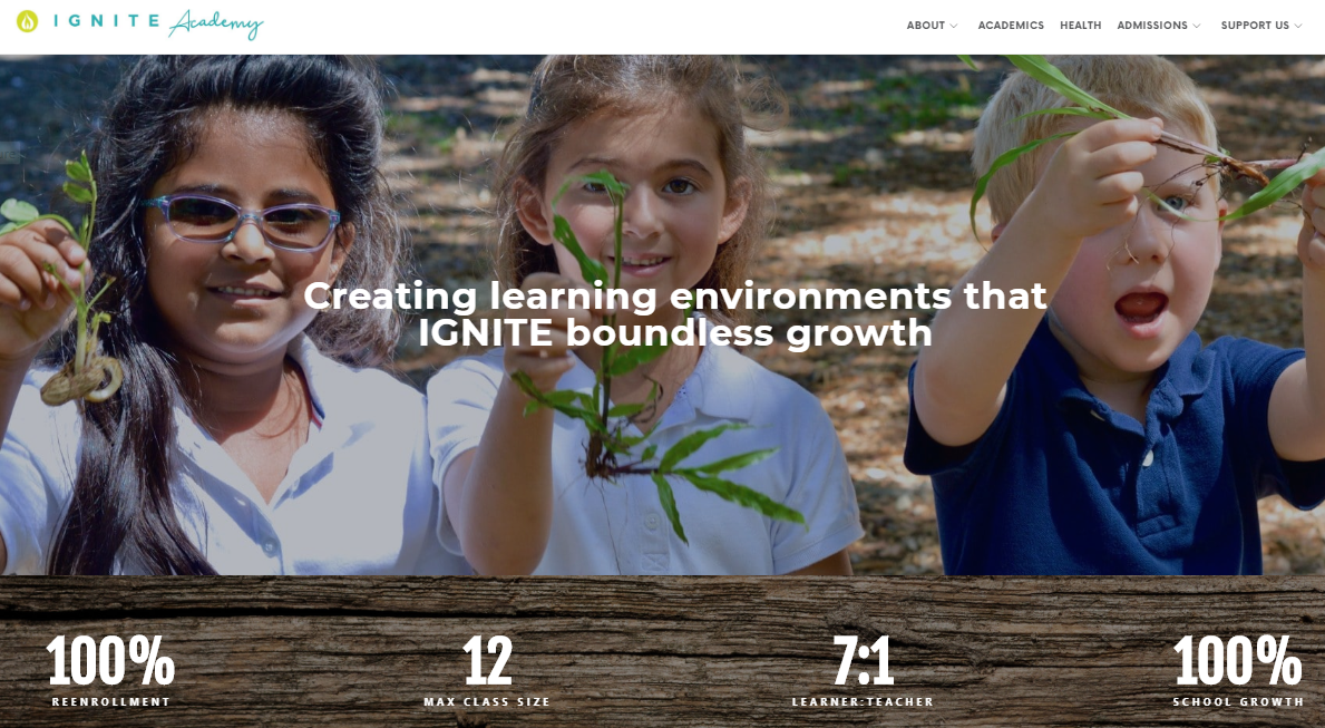 Ignite Education Christian website design