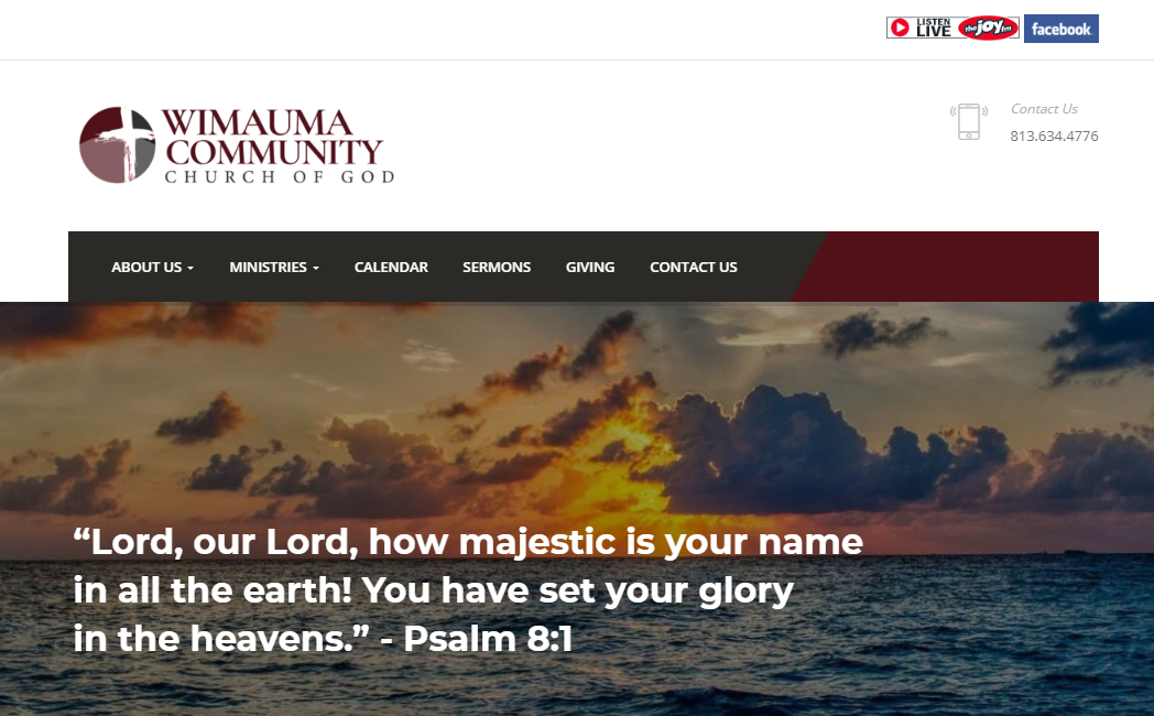 wimauma church web design