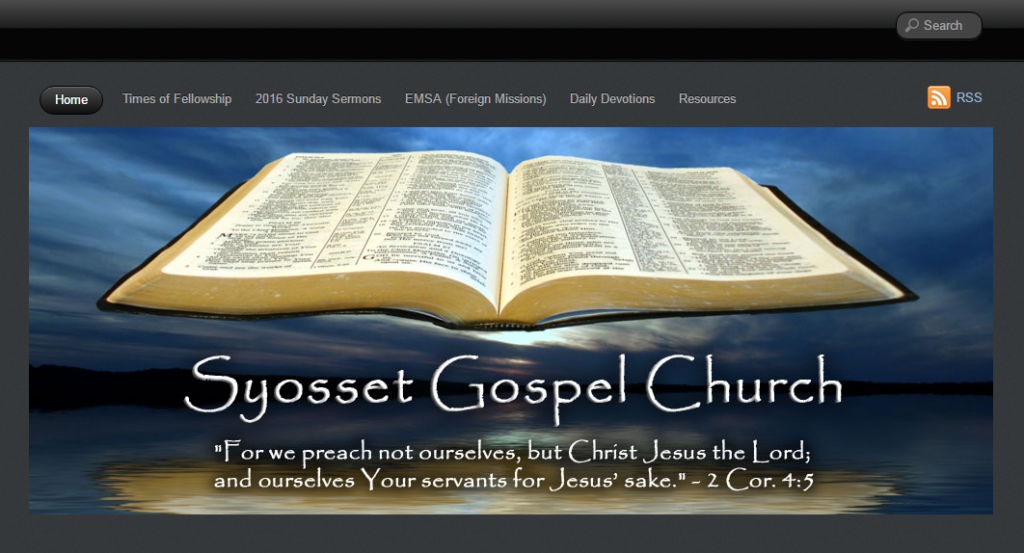 WP-EZ Feature Site - Syosset Gospel Church, Syosset, NY